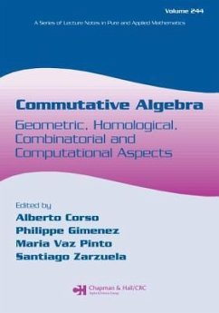 Commutative Algebra: Geometric, Homological, Combinatorial and Computational Aspects