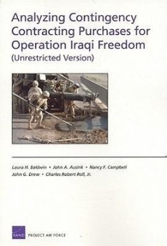 Analyzing Contingency Contracting Purchases for Operation Iraqi Freedom (Unrestricted Version) - Baldwin, Laura H. Ausink, John A. Campbell, Nancy F.