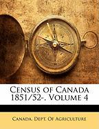 Census of Canada 1851/52-, Volume 4