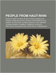 People From Haut-Rhin - Books Llc