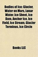Bodies of Ice: Glacier, Water on Mars, Lunar Water, Ice Sheet, Ice Dam, Anchor Ice, Ice Field, Ice Stream, Glacier Terminus, Ice Circ