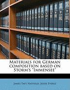 Materials for German Composition Based on Storm's Immensee""