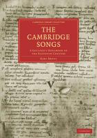 The Cambridge Songs: A Goliard's Songbook of the Eleventh Century