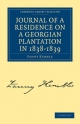 Journal of a Residence on a Georgian Plantation in 1838-1839 - Fanny Kemble