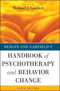 Lambert, Michael J.: Bergin and Garfield´s Handbook of Psychotherapy and Behavior Change