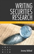 Writing Securities Research - Jeremy Bolland