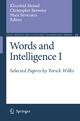 Words and Intelligence - Khurshid Ahmad; Christopher Brewster; Mark Stevenson
