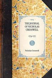 The Journal of Nicholas Cresswell, 1774-1777 - Cresswell, Nicholas