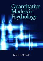 Quantitative Models in Psychology