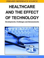 Healthcare and the Effect of Technology: Developments, Challenges and Advancements
