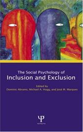 Social Psychology of Inclusion and Exclusion - Abrams, Jerome / Abrams, Dominic