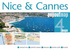 Nice & Cannes PopOut Map, 4 maps