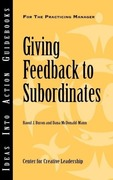 McDonald-Mann, Dana;Buron, Raoul, J.: Giving Feedback to Subordinates