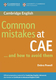 Common Mistakes at CAE - Debra Powell
