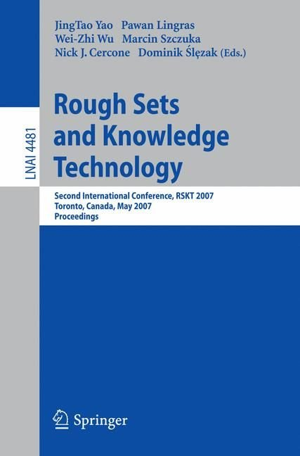 Rough Sets and Knowledge Technology - JingTao Yao