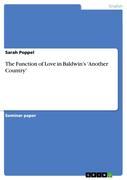 Poppel, Sarah: The Function of Love in Baldwin´s ´Another Country´