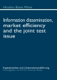 Information dissemination, market efficiency and the joint test issue - Alexander Bassen; Houdou Basse Mama