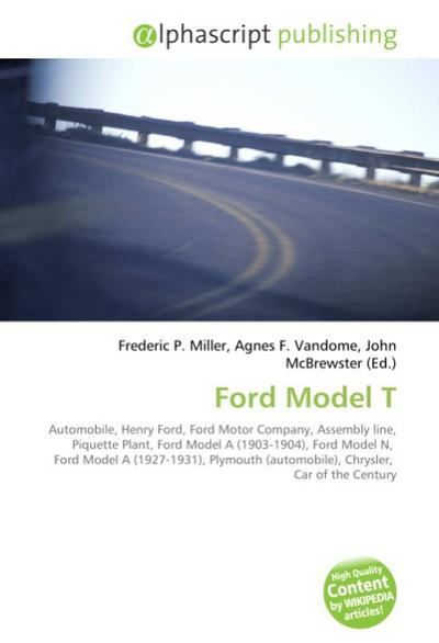 Ford Model T - Frederic P. Miller