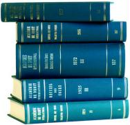 Recueil Des Cours: Collected Courses of the Hague Academy of International Law