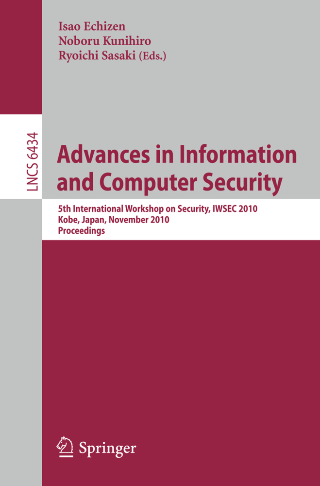 Advances in Information and Computer Security als Buch von