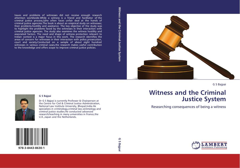 Witness and the Criminal Justice System als Buch von G S Bajpai - G S Bajpai