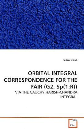 ORBITAL INTEGRAL CORRESPONDENCE FOR THE PAIR (G2,  Sp(1R)) - VIA THE CAUCHY HARISH-CHANDRA INTEGRAL