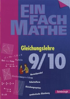 EinFach Mathe. Gleichungslehre 2 - Bearb. v. Hans-Peter Anders