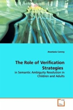 The Role of Verification Strategies - Conroy, Anastasia