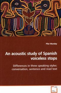 An acoustic study of Spanish voiceless stops - Munday, Pilar