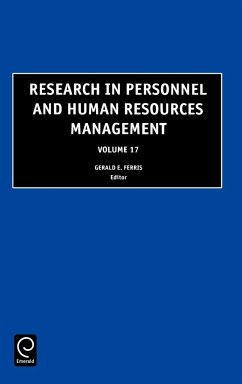 Research in Personnel and Human Resources Management, Volume 17 - G. R. Ferris, Ferris Ferris, Gerald R. G. R. Ferris