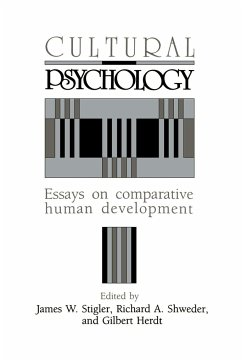 Cultural Psychology: Essays on Comparative Human Development - University of Chicago