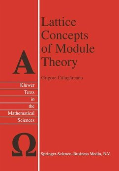 Lattice Concepts of Module Theory - Calugareanu, G.