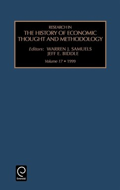 Research in the History of Economic Thought and Methodology: Vol 17 - Samuels, Warren J. Biddle, Jeff E.