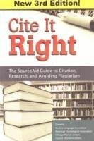 Cite It Right: The SourceAid Guide to Citation, Research, and Avoiding Plagiarism - Fox, Tom Johns, Julia Keller, Sarah