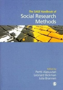 The SAGE Handbook of Social Research Methods - Herausgeber: Alasuutari, Pertti Brannen, Julia Bickman, Leonard