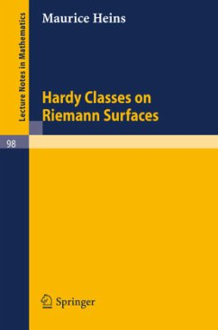 Hardy Classes on Riemann Surfaces - Heins, Maurice