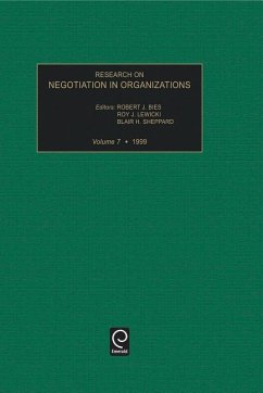 Research on Negotiation in Organizations, Volume 7 - Bies, R.J. / Lewicki, R.J. / Sheppard, B.H. (eds.)
