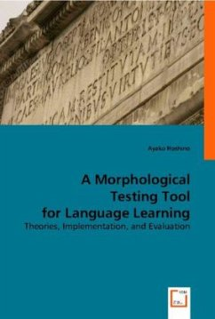A Morphological Testing Tool for Language Learning - Hoshino, Ayako