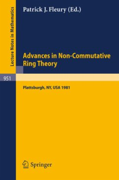 Advances in Non-Commutative Ring Theory - Herausgeber: Fleury, P. J.