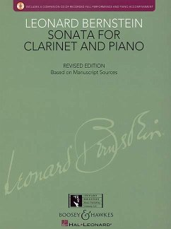 Bernstein - Sonata for Clarinet and Piano: With a CD of Recorded Performance and Accompaniment - Komponist: Bernstein, Leonard / Herausgeber: Walters, Richard Levy, Todd