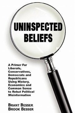 Uninspected Beliefs: A Primer for Liberals, Conservatives, Democrats and Republicans Using History, Economics and Common Sense to Rebut Pol - Besser, Brant Besser, Brook