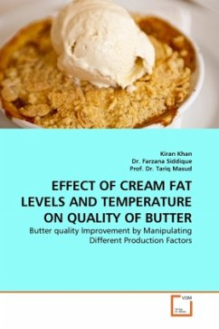 EFFECT OF CREAM FAT LEVELS AND TEMPERATURE ON QUALITY OF BUTTER - Khan, Kiran Siddique, Farzana Masud, Tariq