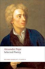 Selected Poetry - Alexander Pope Pat Rogers
