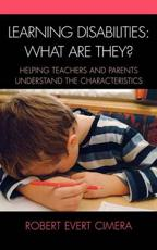 Learning Disabilities: What Are They? - Robert Evert Cimera