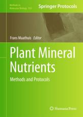 Plant Mineral Nutrients - Maathuis, Frans (EDT)