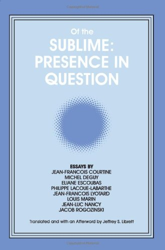 Of the Sublime: Presence in Question: Essays by Jean-Francois Courtine, Michel Deguy, Eliane Escoubas, Philippe Lacoue-Labarthe, Jean-Franco - Jeffrey S. Librett