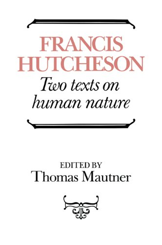 Hutcheson: Two Texts on Human Nature - Francis Hutcheson