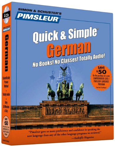 Pimsleur German Quick  &  Simple Course - Level 1 Lessons 1-8 CD: Learn to Speak and Understand German with Pimsleur Language Programs - Pimsleur