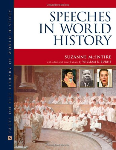 Speeches in World History (Facts on File Library of World History) - Suzanne McIntire