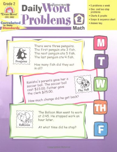 Daily Word Problems, Grade 2 - Evan-Moor Educational Publishers